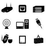 Computer and network devices. And parts Royalty Free Stock Photography