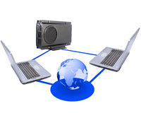 computer network Royalty Free Stock Photography