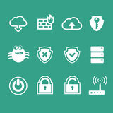 Computer network icon set Royalty Free Stock Image