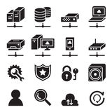 Computer network icon set. Vector illustration Graphic Design symbol Stock Photos