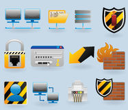 Computer and network icons set. For web design Stock Image