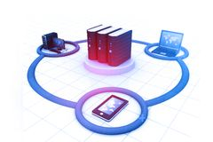 Computer Network. And internet communication concept Stock Image