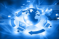 Computer Network And Internet Communication Stock Photography