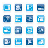Computer Network and internet icons Stock Images