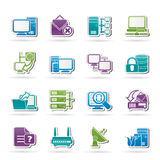 Computer Network and internet icons Royalty Free Stock Image