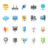 Computer Network and internet icons. Vector icon set Royalty Free Stock Images