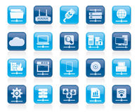 Computer Network and internet icons. Vector icon set Stock Photo
