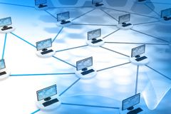 Computer network. And internet technology Stock Images