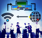 Computer Network Internet Technology Connection Concept Royalty Free Stock Photography
