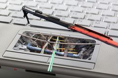 Computer or network maintenance. Or security concept Royalty Free Stock Photo