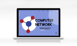 Computer network online digital technology Royalty Free Stock Image