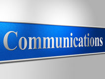 Computer Network Represents Global Communications And Chatting. Communication Network Showing Global Communications And Discussion Stock Images