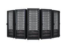 Computer Network Server Isolated. On white background. 3D render Royalty Free Stock Images