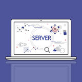 Computer Network Server System concept Royalty Free Stock Photo
