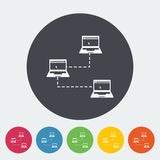 Computer network single icon. Royalty Free Stock Images