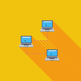 Computer network single icon. Stock Image