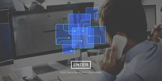 Computer Network Technology Graphic Concept Royalty Free Stock Image