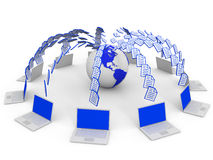 Computer network. Traffic. Royalty Free Stock Photos