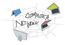 Computer Network Web Sketch Connection Concept Stock Photos