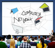 Computer Network Web Sketch Connection Concept Stock Images