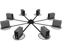 Computer networking Royalty Free Stock Photo