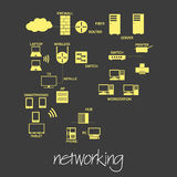 It computer networking symbols simple banner eps10 Royalty Free Stock Image