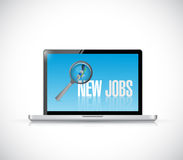 Computer new jobs illustration design. Over a white background Royalty Free Stock Image