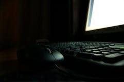 Computer at night Royalty Free Stock Photo