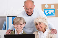 Computer is not frightening Royalty Free Stock Photo