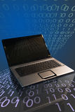 Computer Notebook Binary royalty free stock image