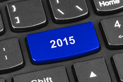 Computer notebook keyboard with 2015 key Stock Images