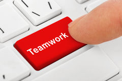 Computer notebook keyboard with Teamwork key Stock Photography