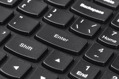 Computer notebook keyboard Royalty Free Stock Photos