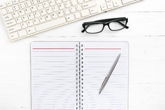 Computer and notepad Royalty Free Stock Image