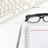 Computer and notepad Royalty Free Stock Photo