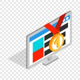 Computer number one isometric icon Royalty Free Stock Image