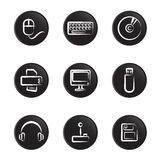 Computer objects icon set Royalty Free Stock Image