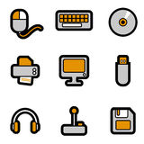 Computer objects icon set vector Royalty Free Stock Image