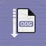 Computer odg file icon. Creative design of iiiiicomputer odg file icon Royalty Free Stock Image