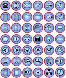 Computer and office buttons stock images