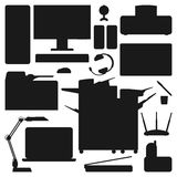 Computer office equipment vector Royalty Free Stock Photography