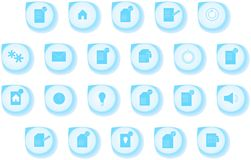 Computer and office icons set, drop shaped Royalty Free Stock Photography