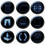 Computer office web symbols Stock Image