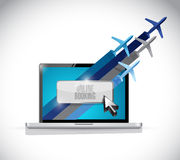 Computer online booking. travel concept Royalty Free Stock Photography