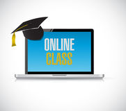 Computer online class concept illustration design Royalty Free Stock Photography