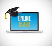computer online class concept illustration design royalty free illustration