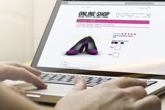 Computer online shopping Stock Photography