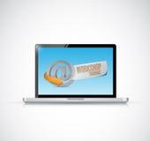 Computer online workshop training illustration vector illustration