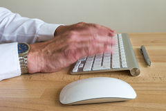 Computer Operator Speed Typing 2 Stock Image