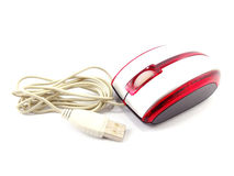 Computer opical mouse. On white background Royalty Free Stock Photography